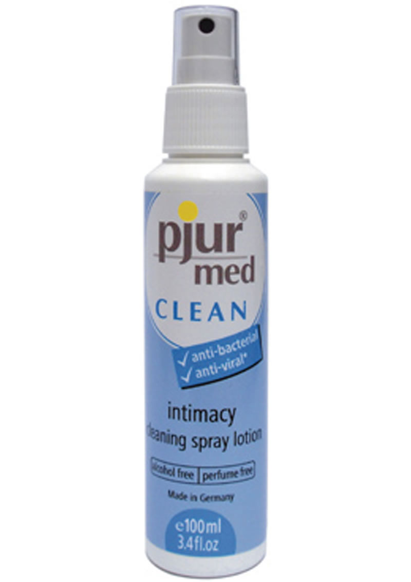 Pjur Med Clean Toy Cleaner Or Intimacy Cleaning Spray Lotion 3.4 Ounce