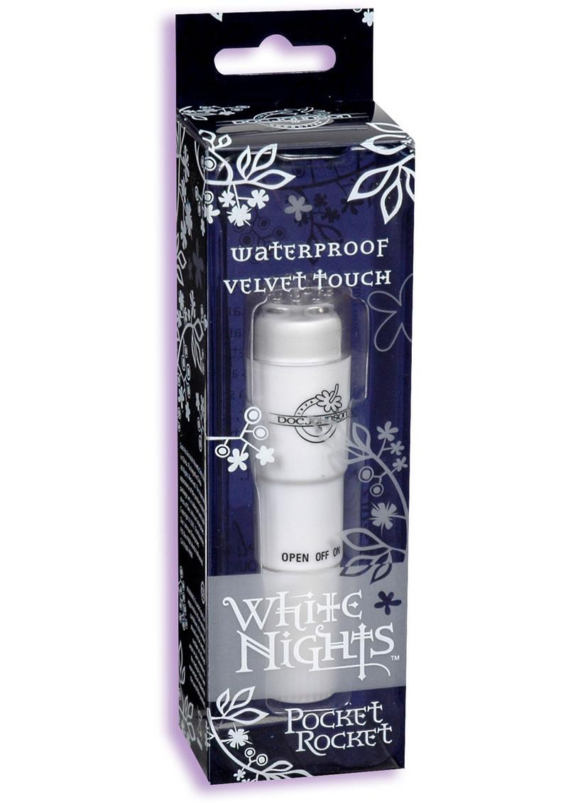 White Nights Velvet Touch Pocket Rocket Waterproof White