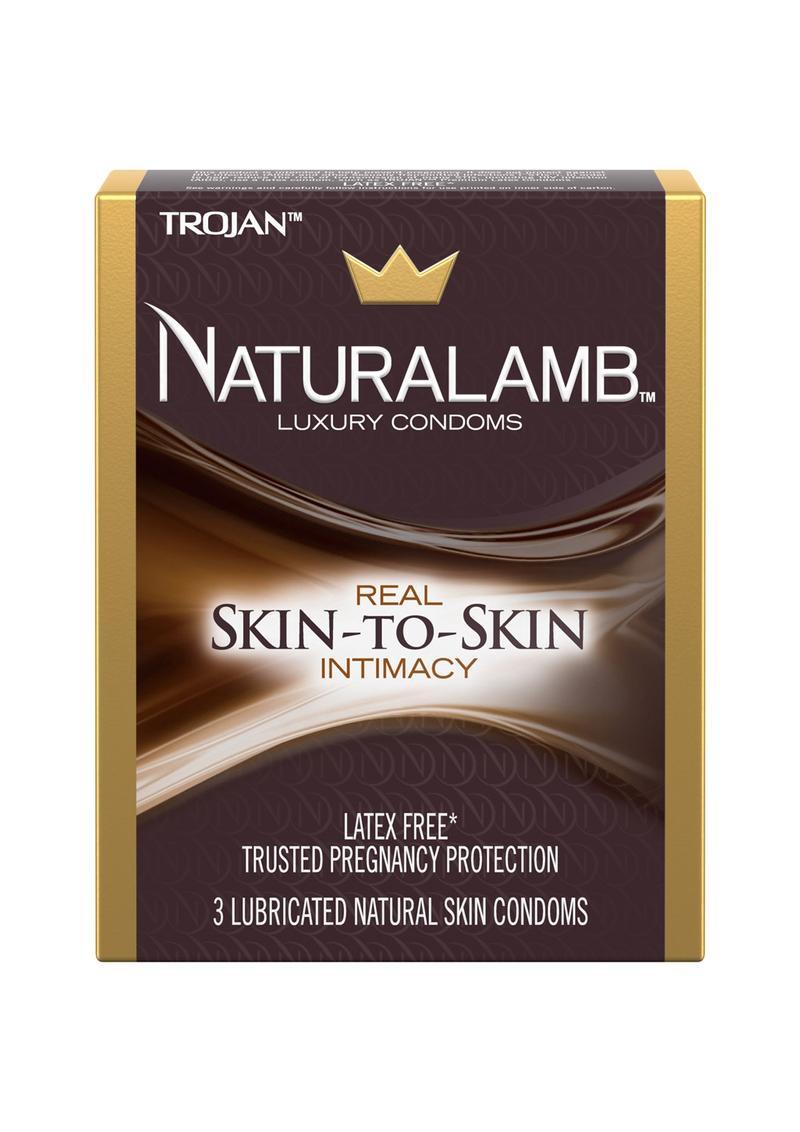 Trojan Naturalamb Luxury Condoms Lubricated 3 Pack