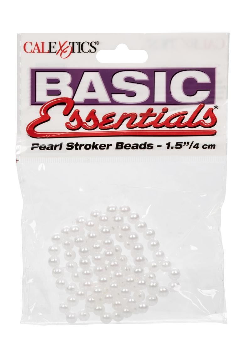 Basic Essentials Pear Stroker Beads Small 1.5 Inch White