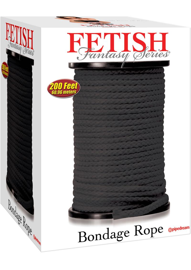 Fetish Fantasy Series Bondage Rope 200 Feet Black