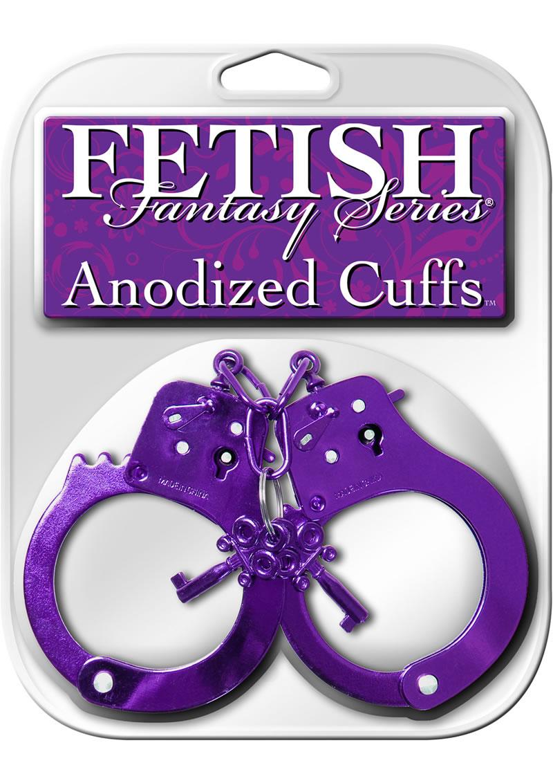 Fetish Fantasy Anodized Cuffs Purple