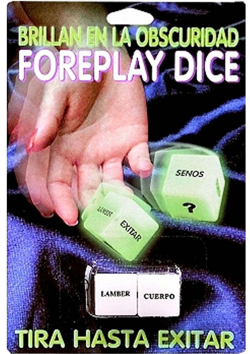 Glow In The Dark Foreplay Dice Spanish Version