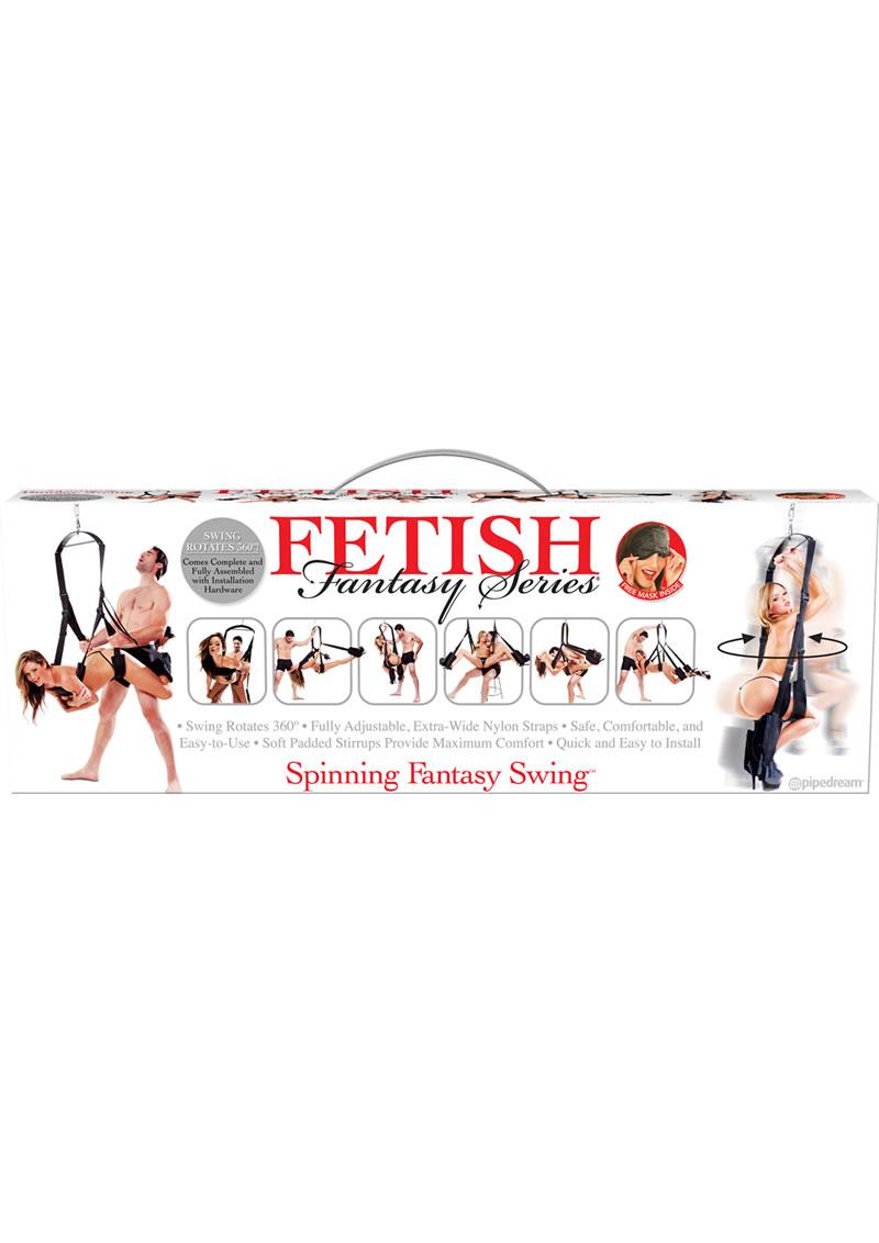 Fetish Fantasy Series Spinning Fantasy Swing Black