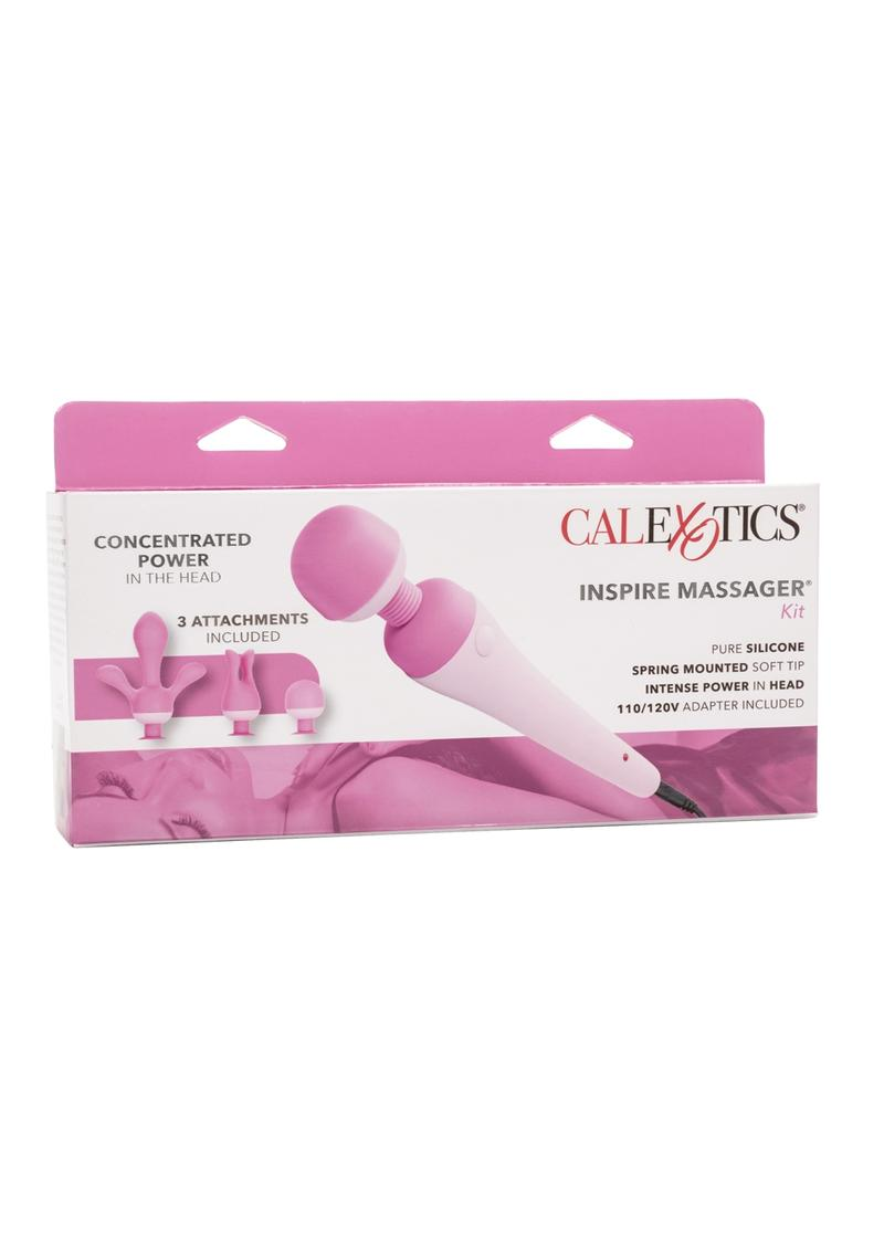 Couture Collection Inspire Massager With Silicone Attachments Pink