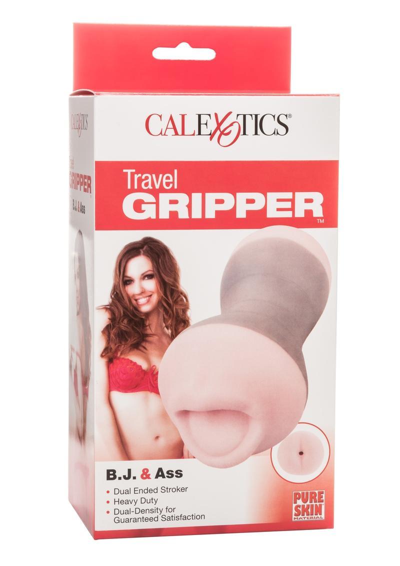 Travel Gripper BJ And Ass Masturbator Pink