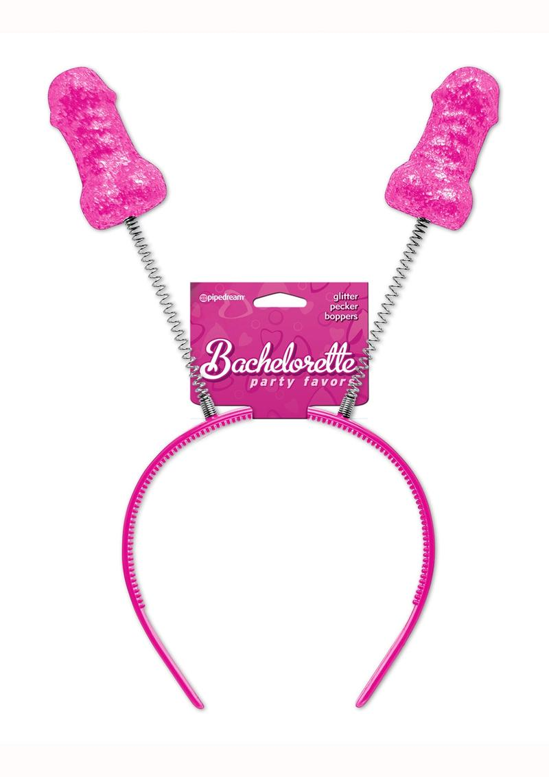 Bachelorette Party Favors Glitter Pecker Boppers Pink