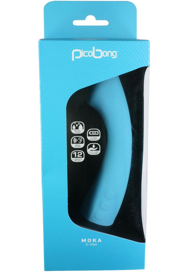 Pico Bong Moka G Silicone Vibe Waterproof Blue