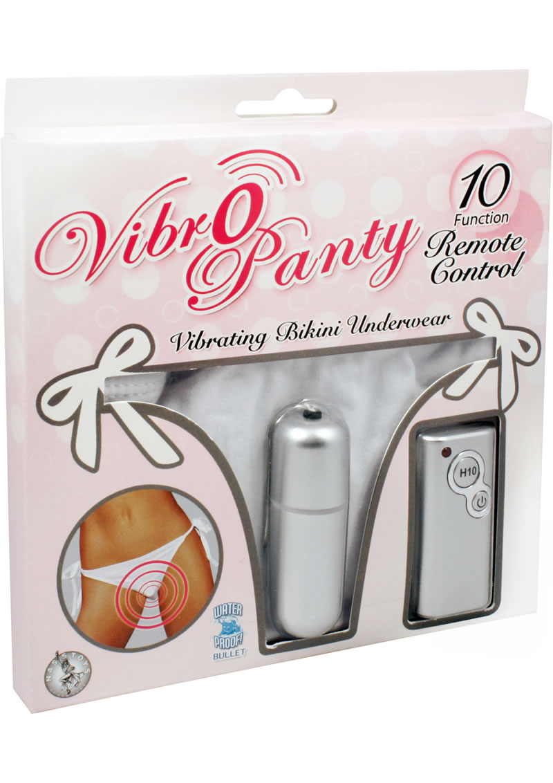 Vibro Panty Bikini Remote Control Waterproof White One Size