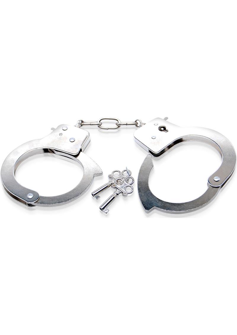 Fetish Fantasy Series Limited Edition Metal Handcuffs Silver