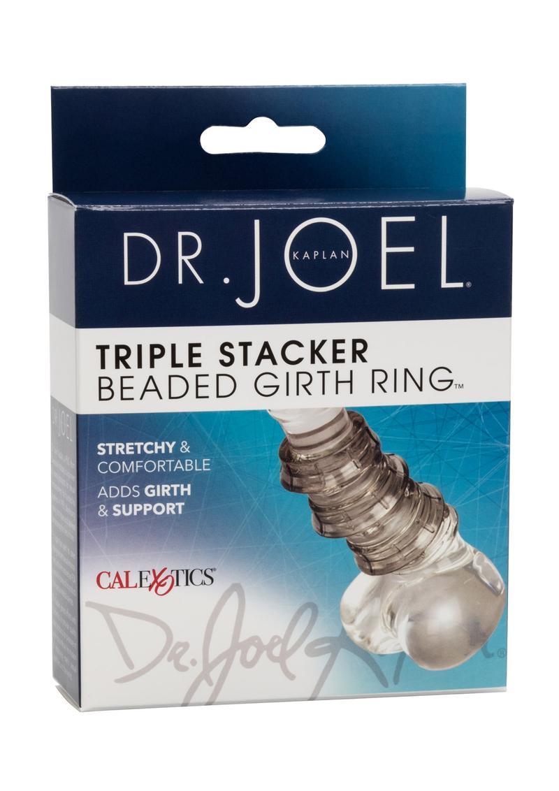 Dr Joel Kaplan Beaded Girth Ring Triple Stacker Cock Ring Smoke