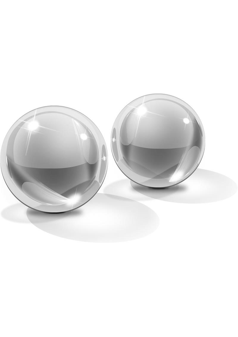 Icicles No 42 Ben-Wa Balls Glass Clear Medium 1.2 Inch Diameter