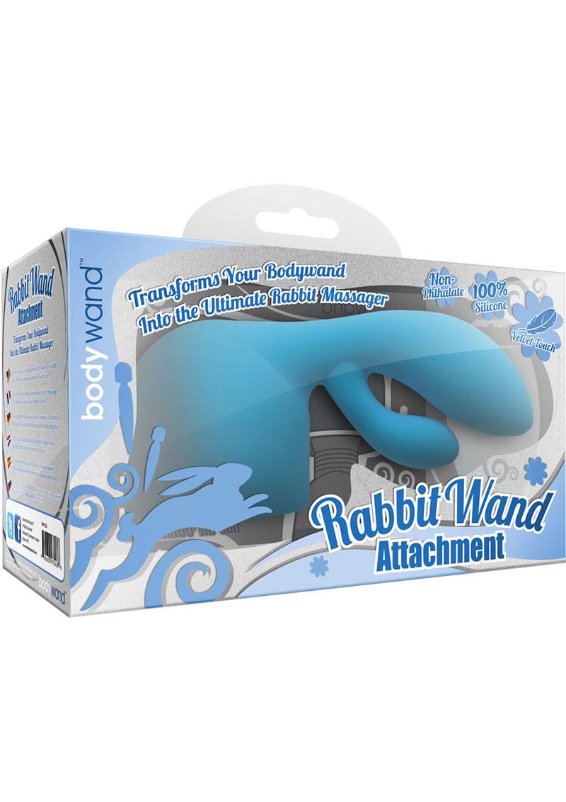 Bodywand Rabbit Wand Attachment Silicone Blue
