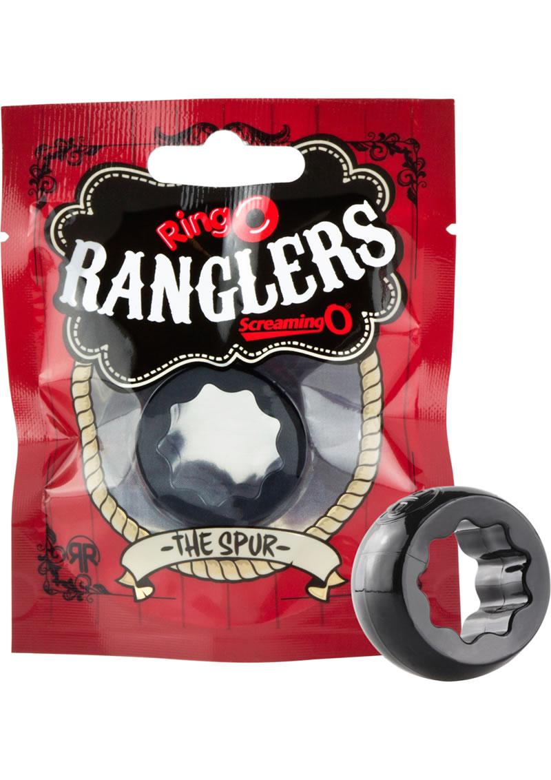 Ringo Rangler Spur Cockring Black 10 Each Per Box