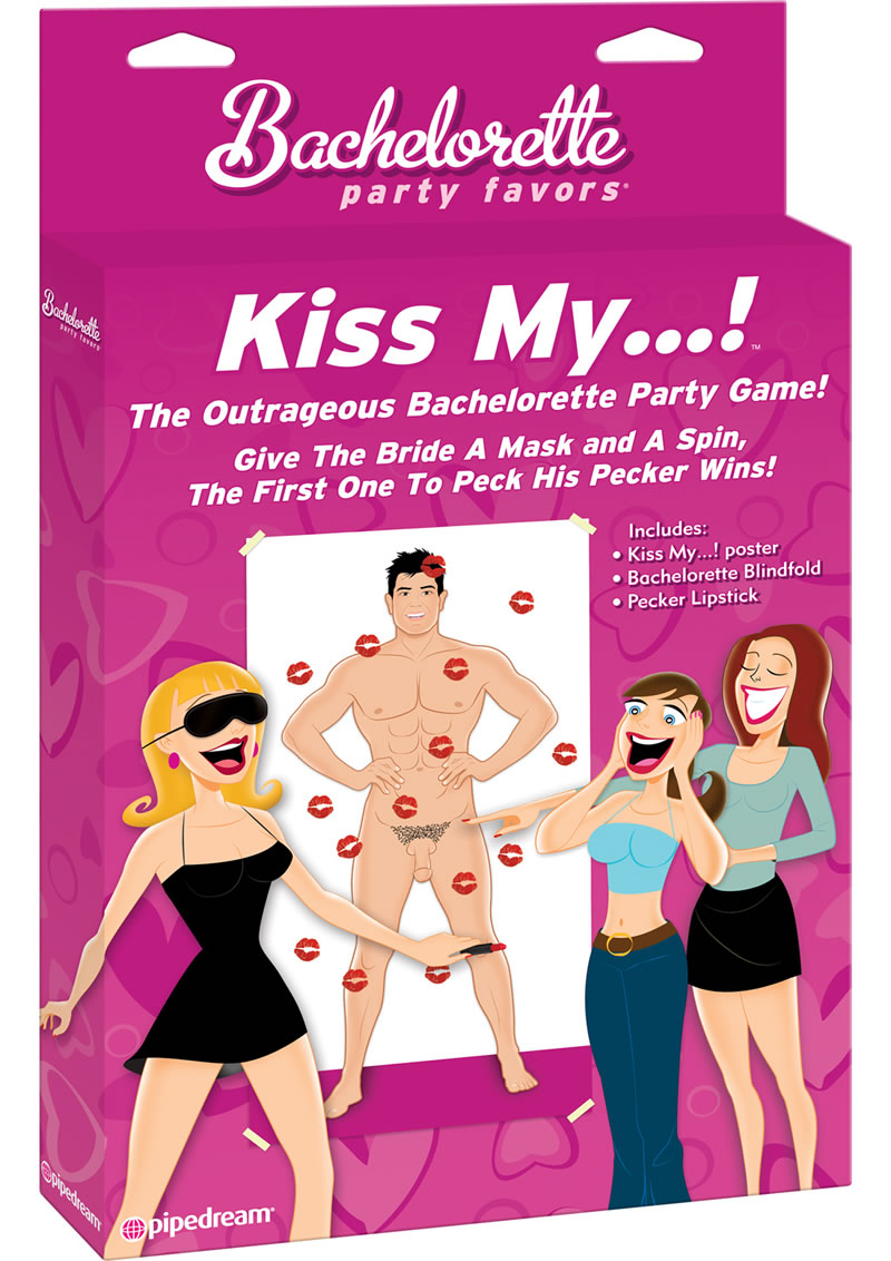 Bachelorette Party Favors Kiss My Party Game