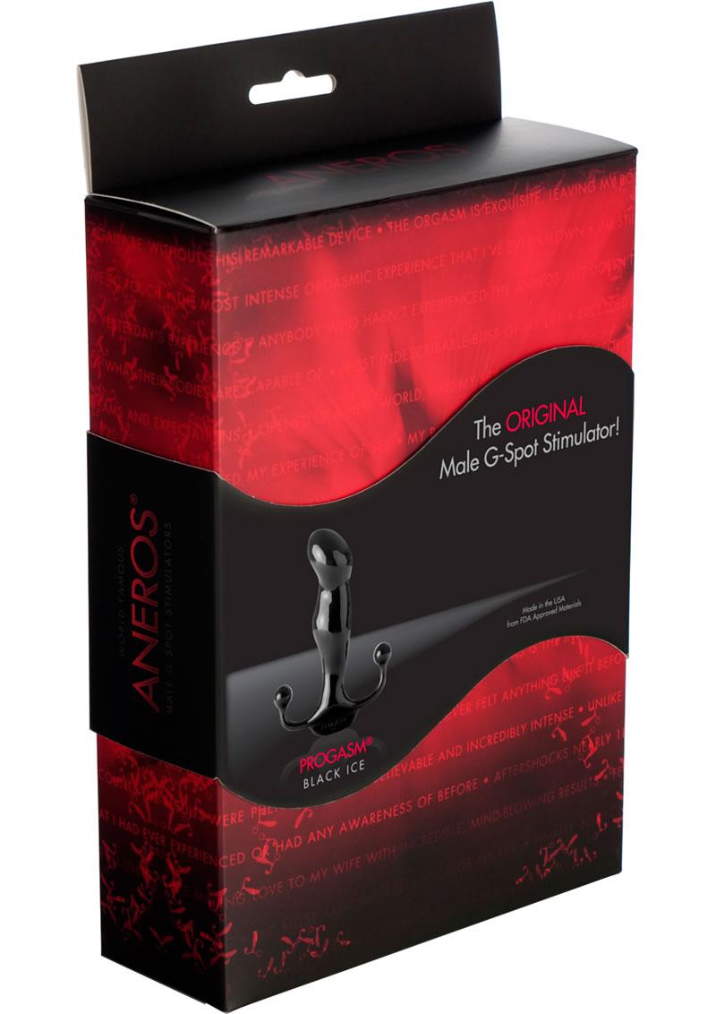 Progasm Black Ice Male G-Spot Stimulator Black