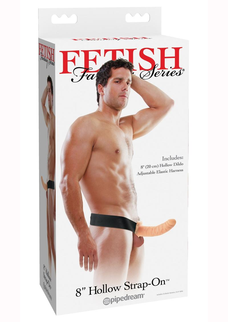 Fetish Fantasy Hollow Adjustable Strap On 8 Inch Flesh