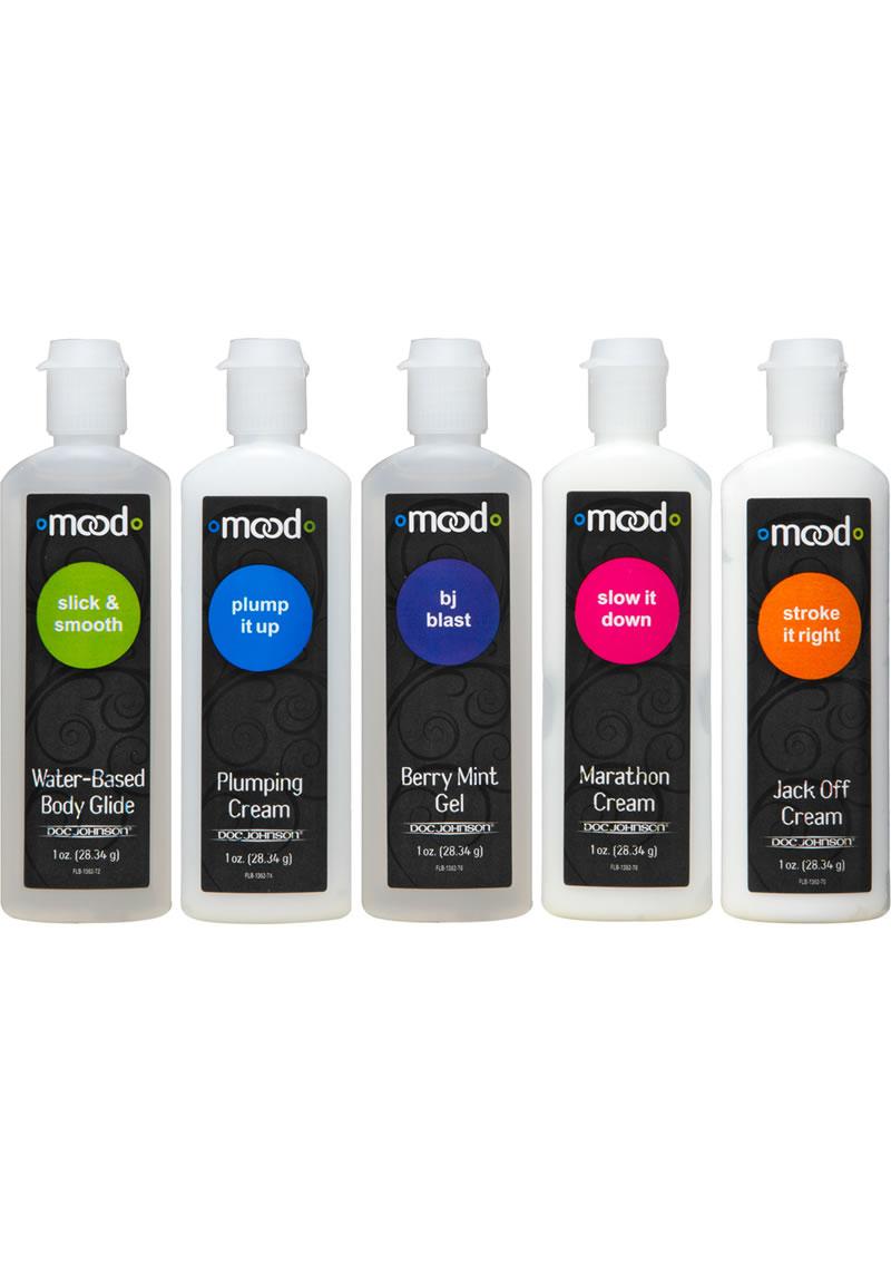 Mood Pleasure For Him Enhancement Gels Assorted Gels 1 Ounce 5 Each Per Pack