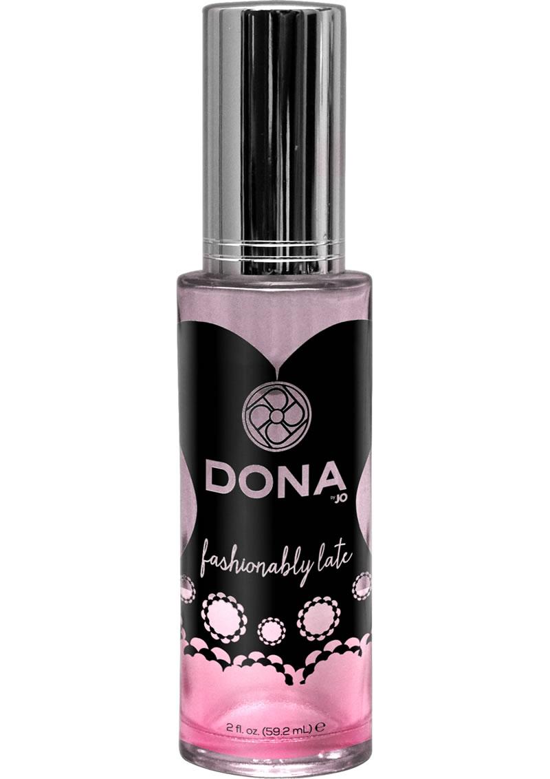 Dona Aphrodisiac and Pheromone Infused Perfume Spray Fashionably Late 2 Ounce