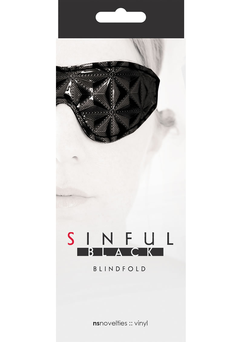 Sinful Blindfold Vinyl Black
