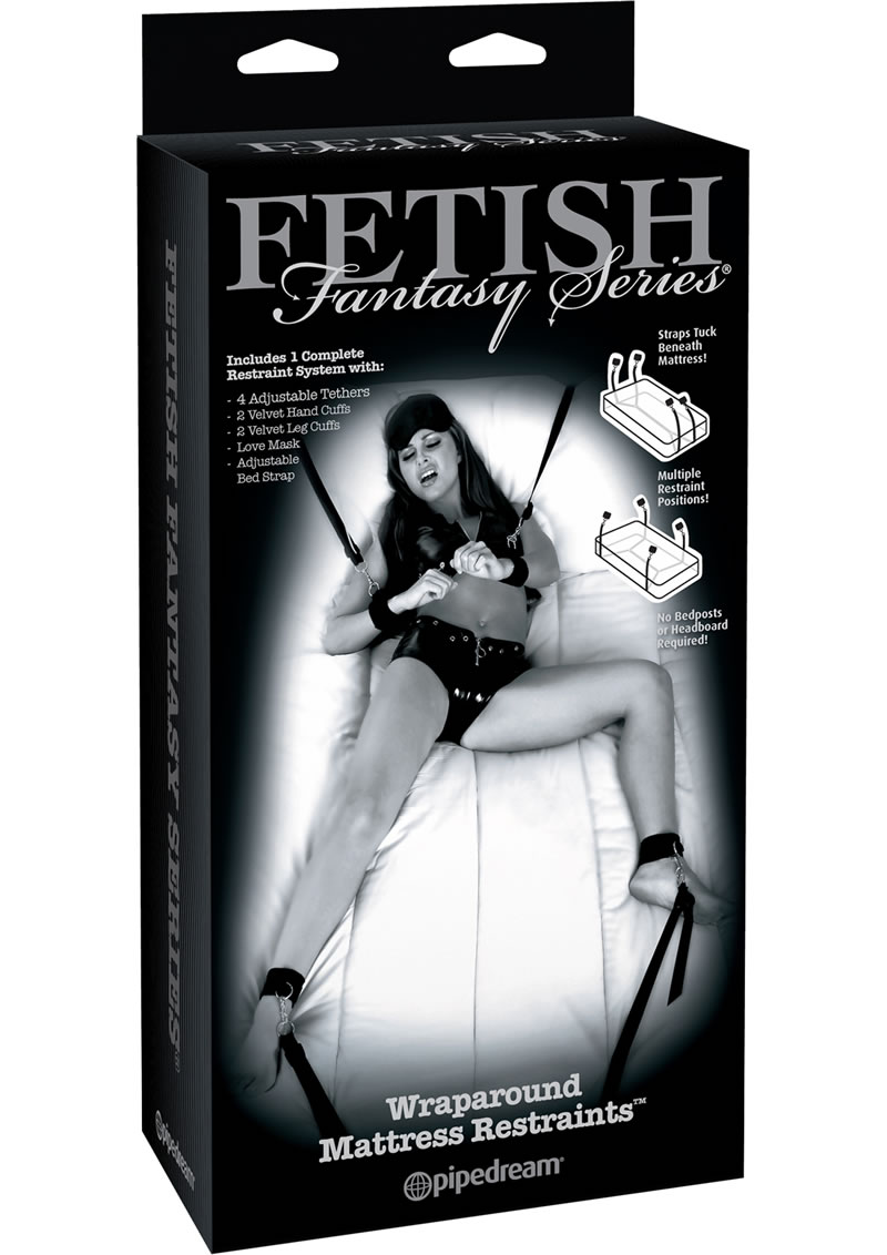 Fetish Fantasy Series Limited Edition Wraparound Mattress Restraints Black