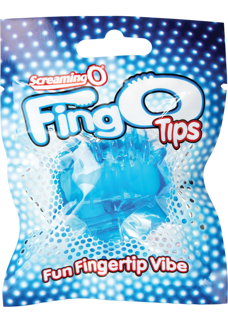 Fing O Tips Silicone Finger Massagers Blue