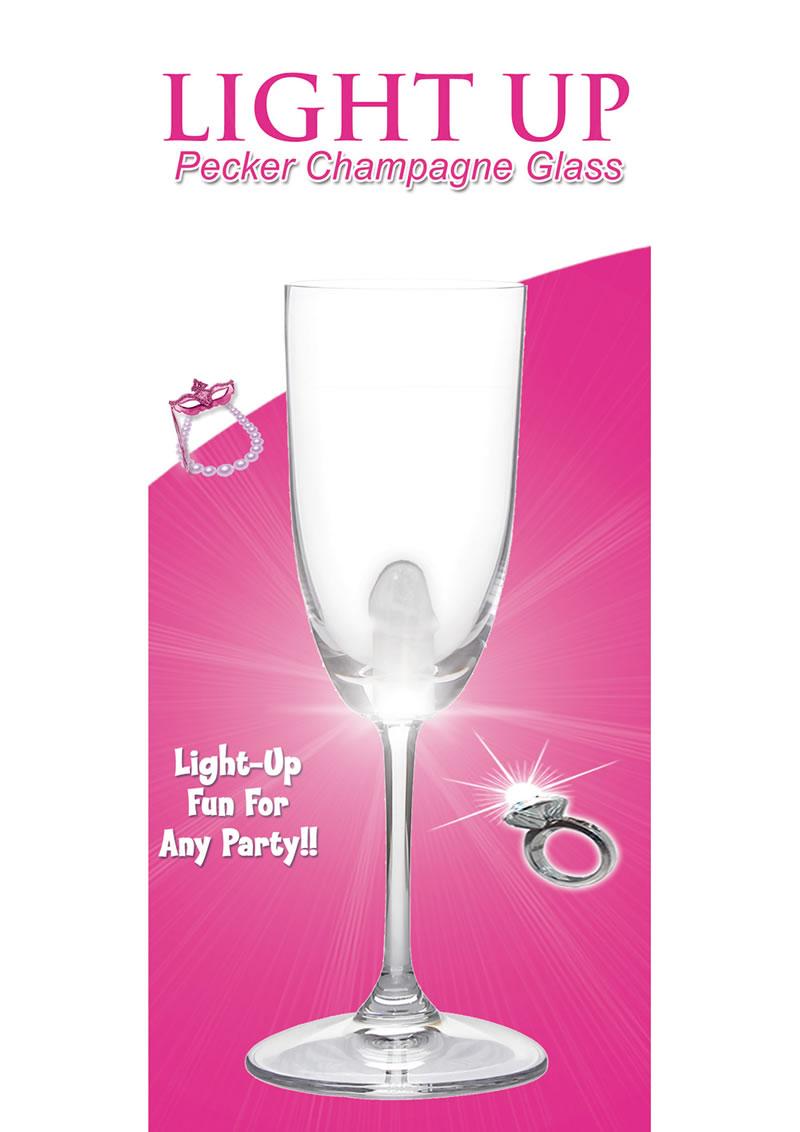 Light Up Pecker Champagne Glass