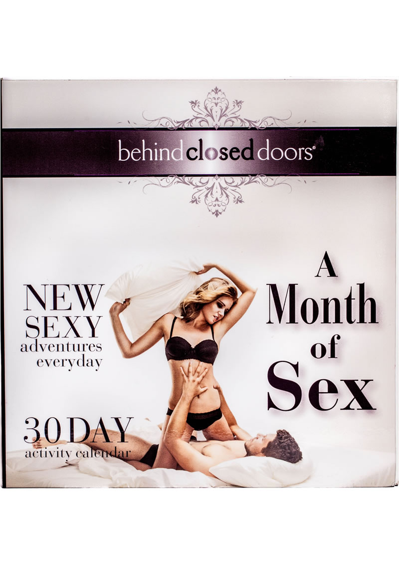 Behind Closed Doors Month Of Sex Activity Calender