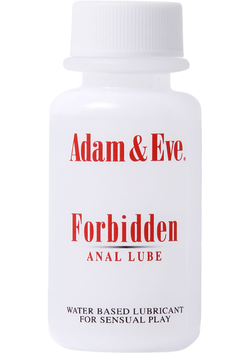 Adam and Eve Forbidden Water Based Anal Lubricant 1 Ounce
