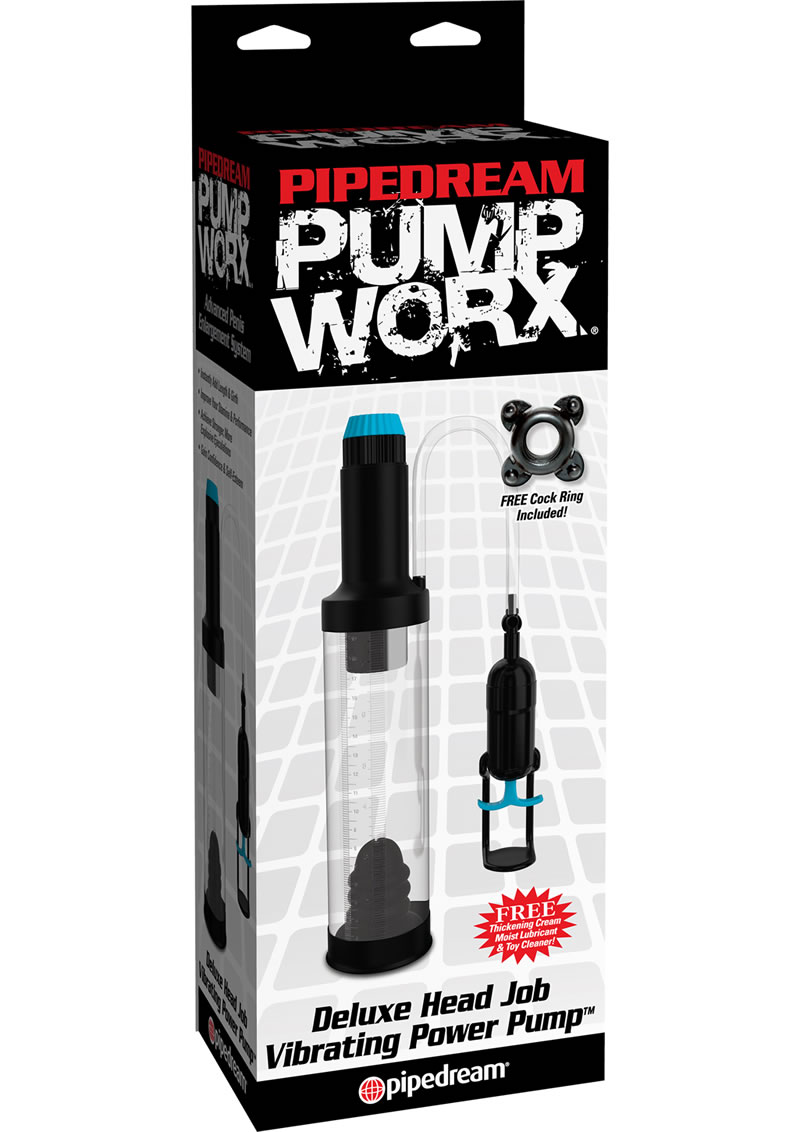 Pump Worx Deluxe Head Job Vibrating Power Penis Pump