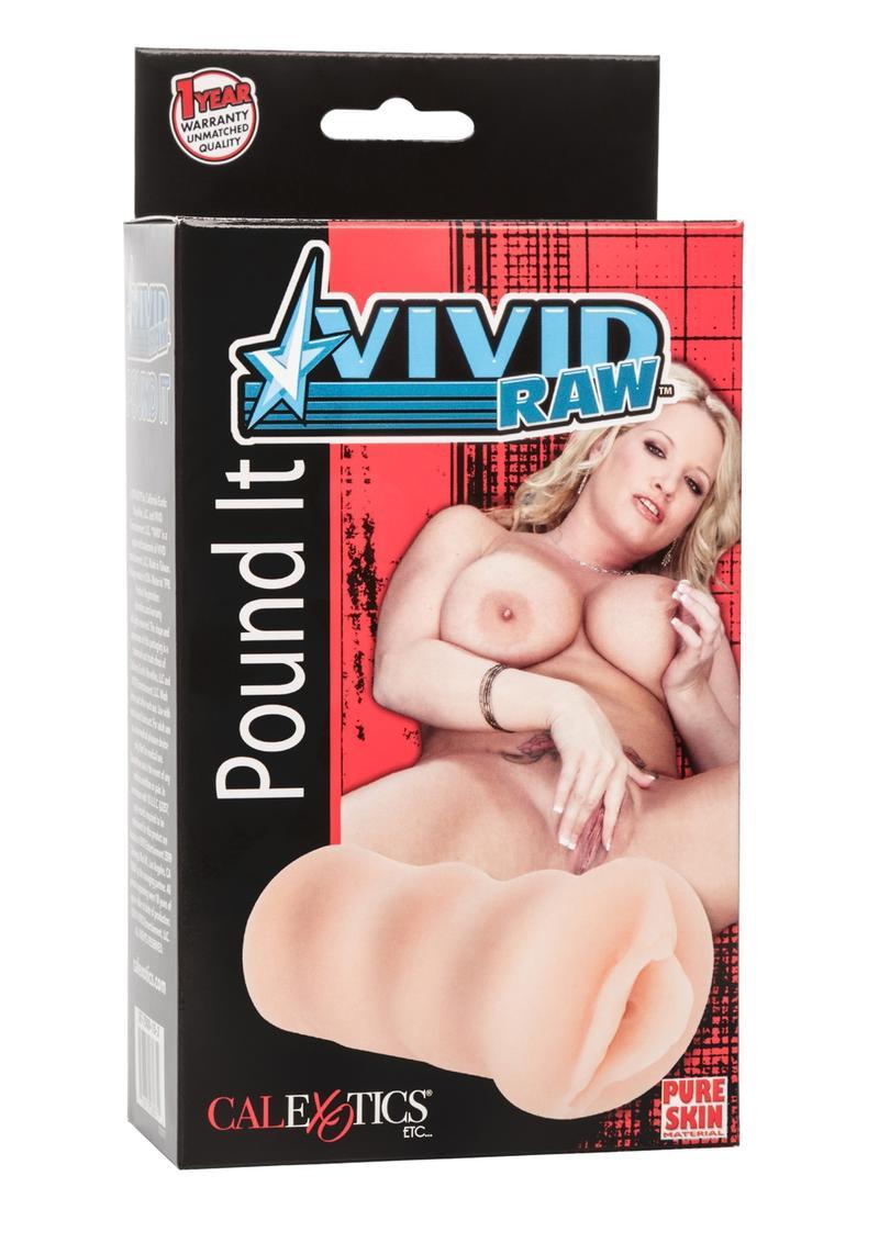 Vivid Raw Pound It Pussy Stroker Ivory 5.25 Inch