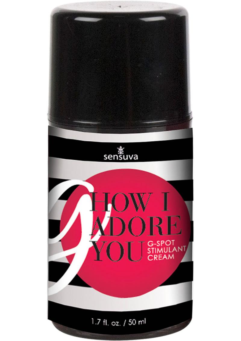 Sensuva G How I Adore You G Spot Stimulant Cream For Her 1.7oz
