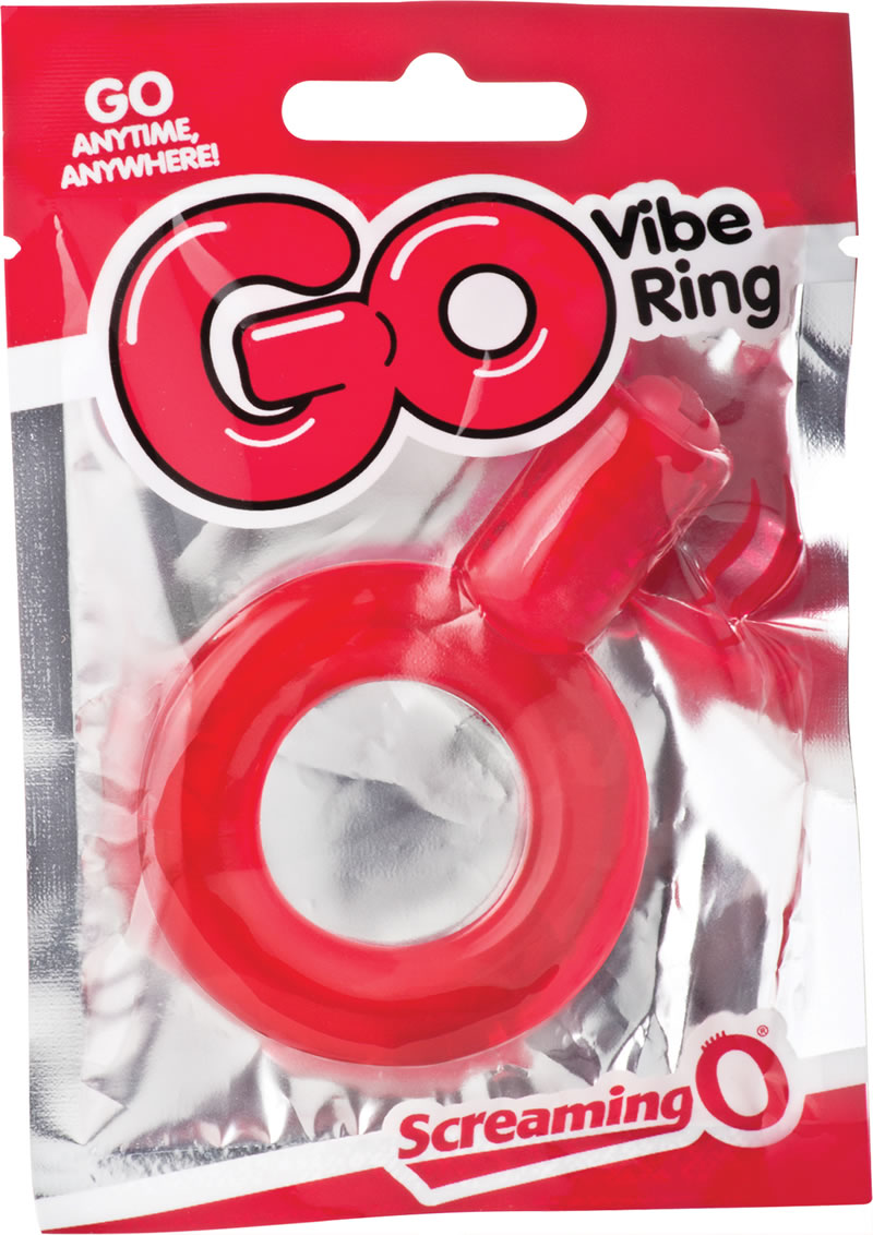 Go Vibe Ring Disposable Cockring Red