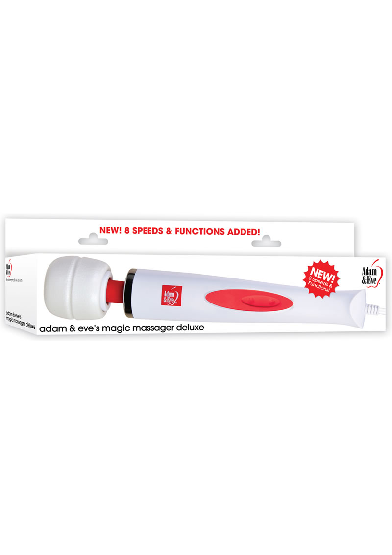 Adam and Eve Magic Massager Deluxe White/Red