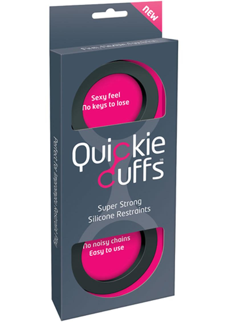 Quickie Cuffs Silicone Restraints Medium Black