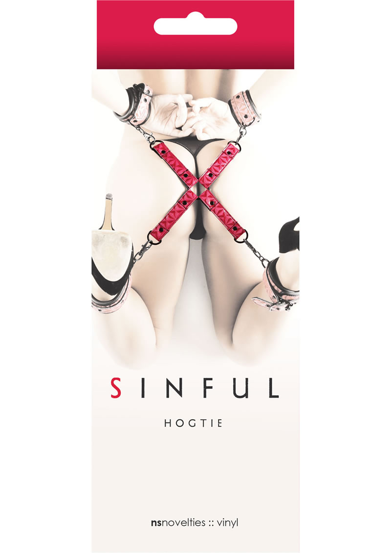 Sinful Vinyl Hogtie Restraint Red