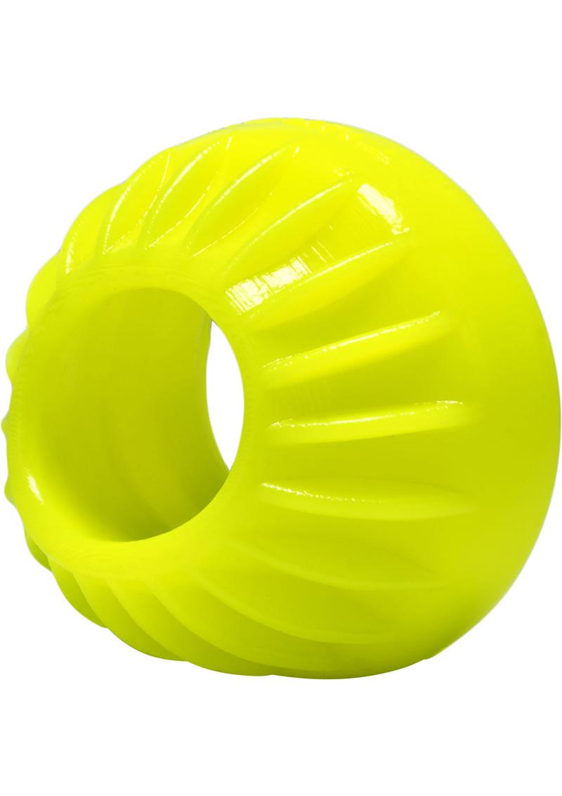 Oxballs Turbine Silicone Cockring Acid Yellow 1.75 Inch
