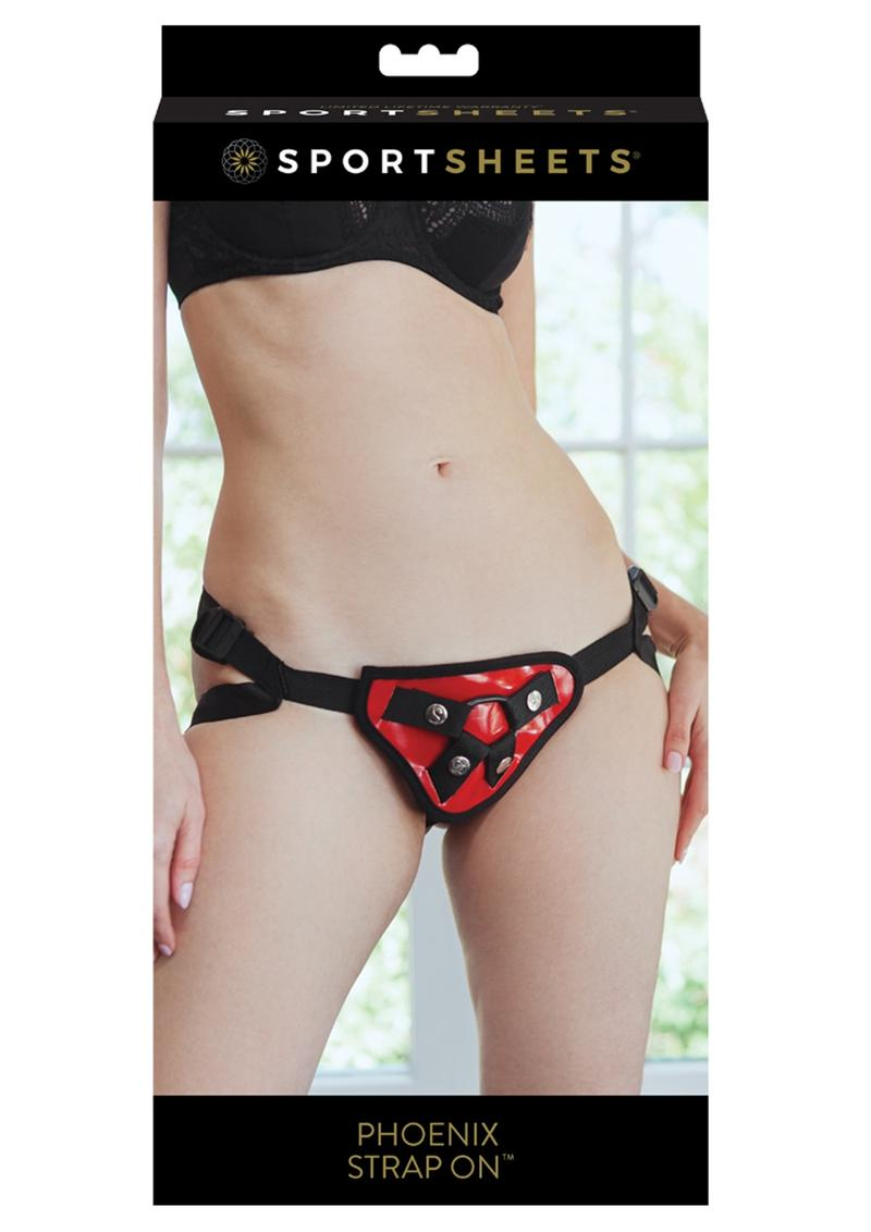 Sportsheets Entry Level Strap On Adjustable Harness Red