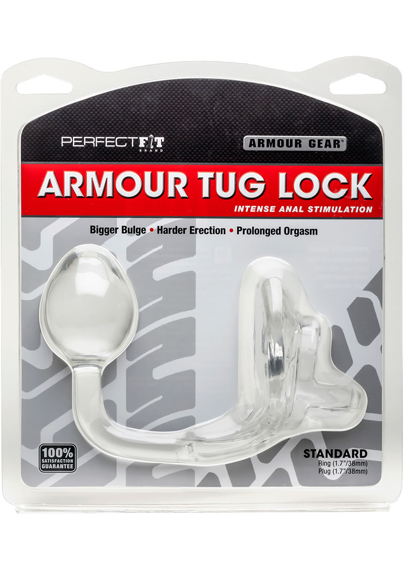 Perfect Fit Armour Gear Armour Tug Lock Prostate Plug Standard - Clear