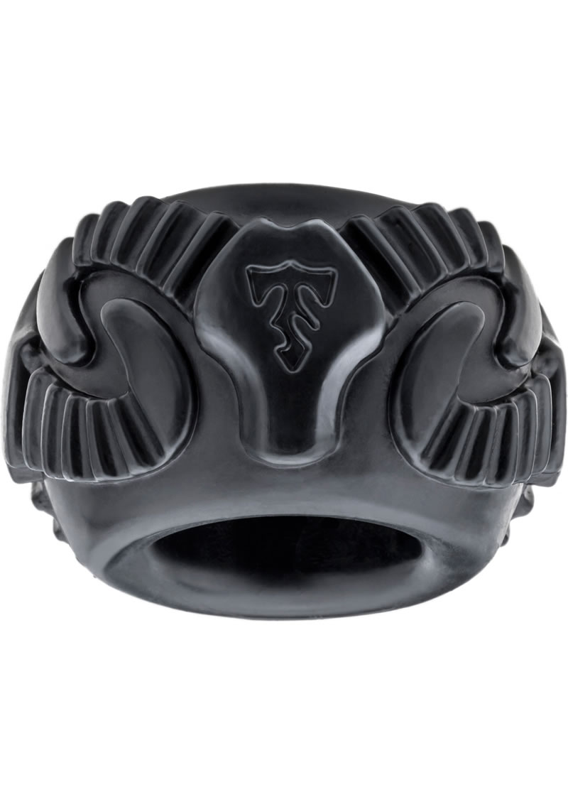 Perfect Fit Tribal Son Ram Ring Cockring - Black