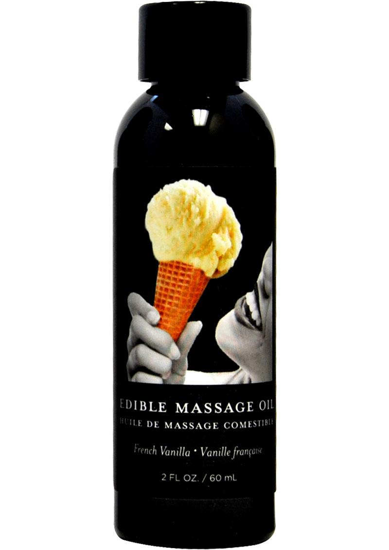 Edible Massage Oil Vanilla 2 Ounce