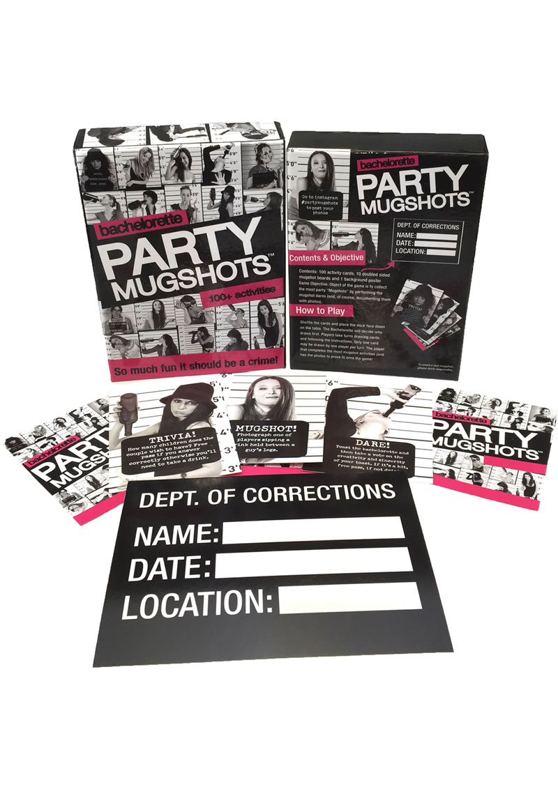 Bachelorette Party Mugshots Card Game