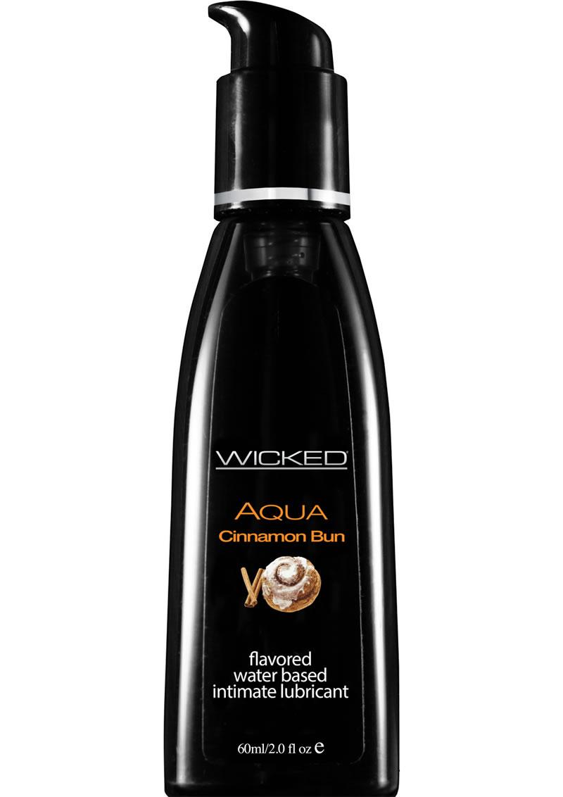 Wicked Aqua Water Based Flavored Lubricant Cinnamon Bun 2 Ounce