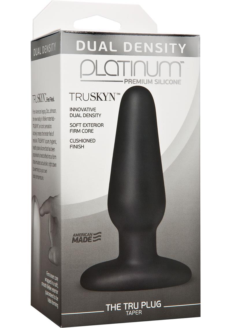 Platinum Silicone Anal plug Black 4 Inches