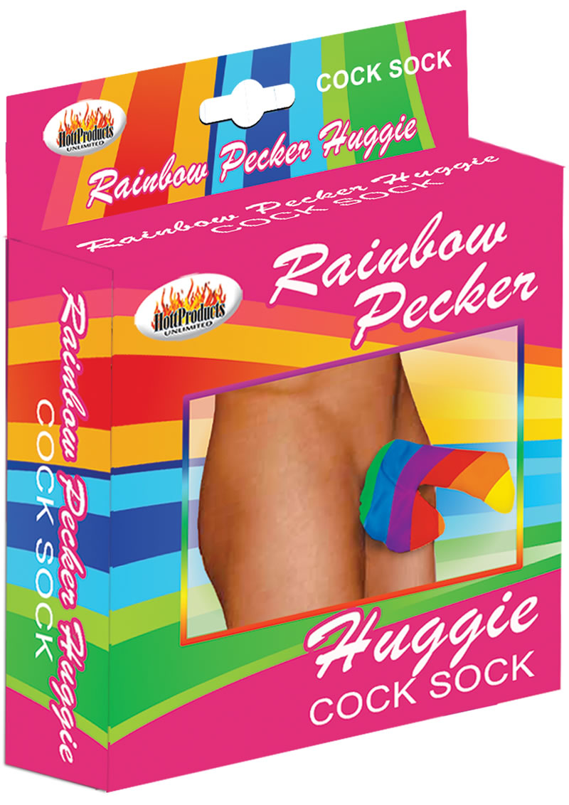 Rainbow Huggie Mens Cock Sock Multicolor