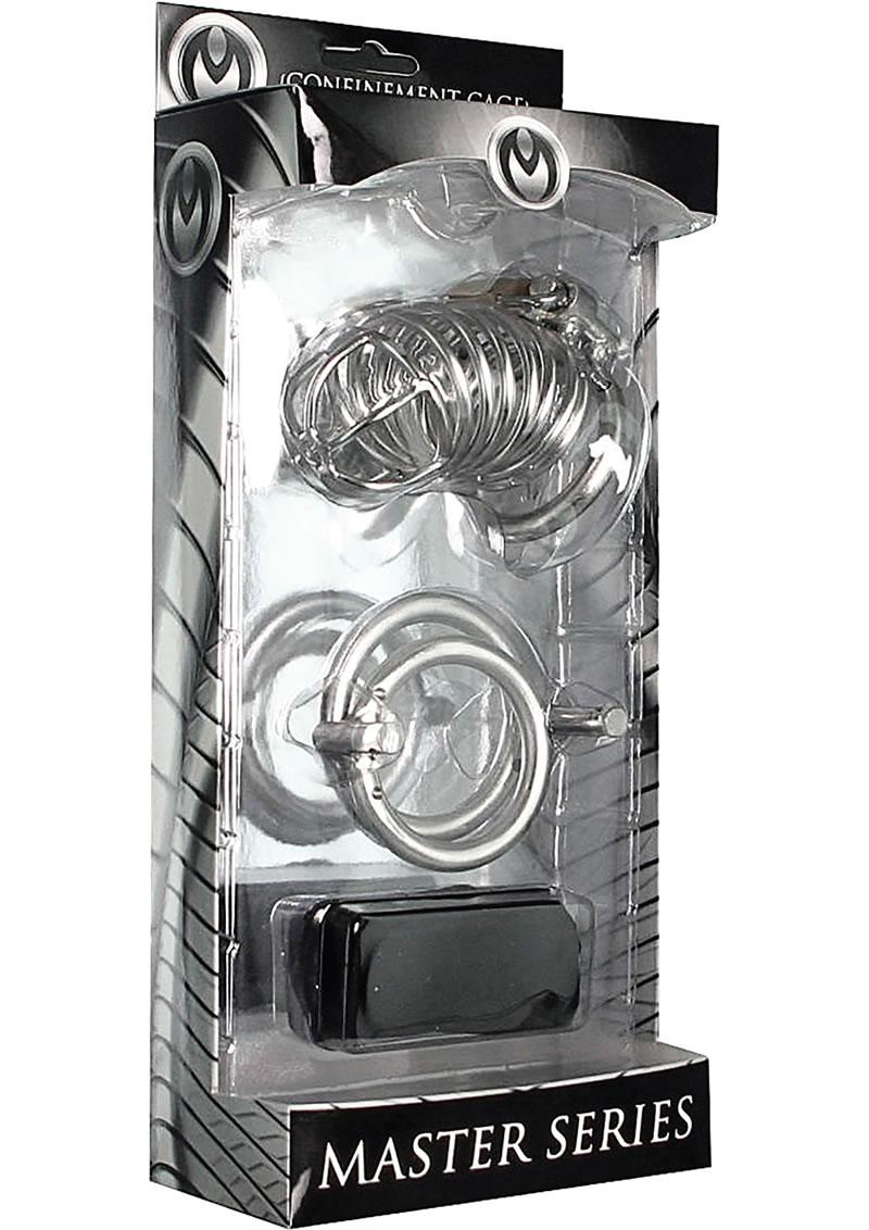 Master Series Bastille Penile Confinement Cage Metal 3.25 Inch