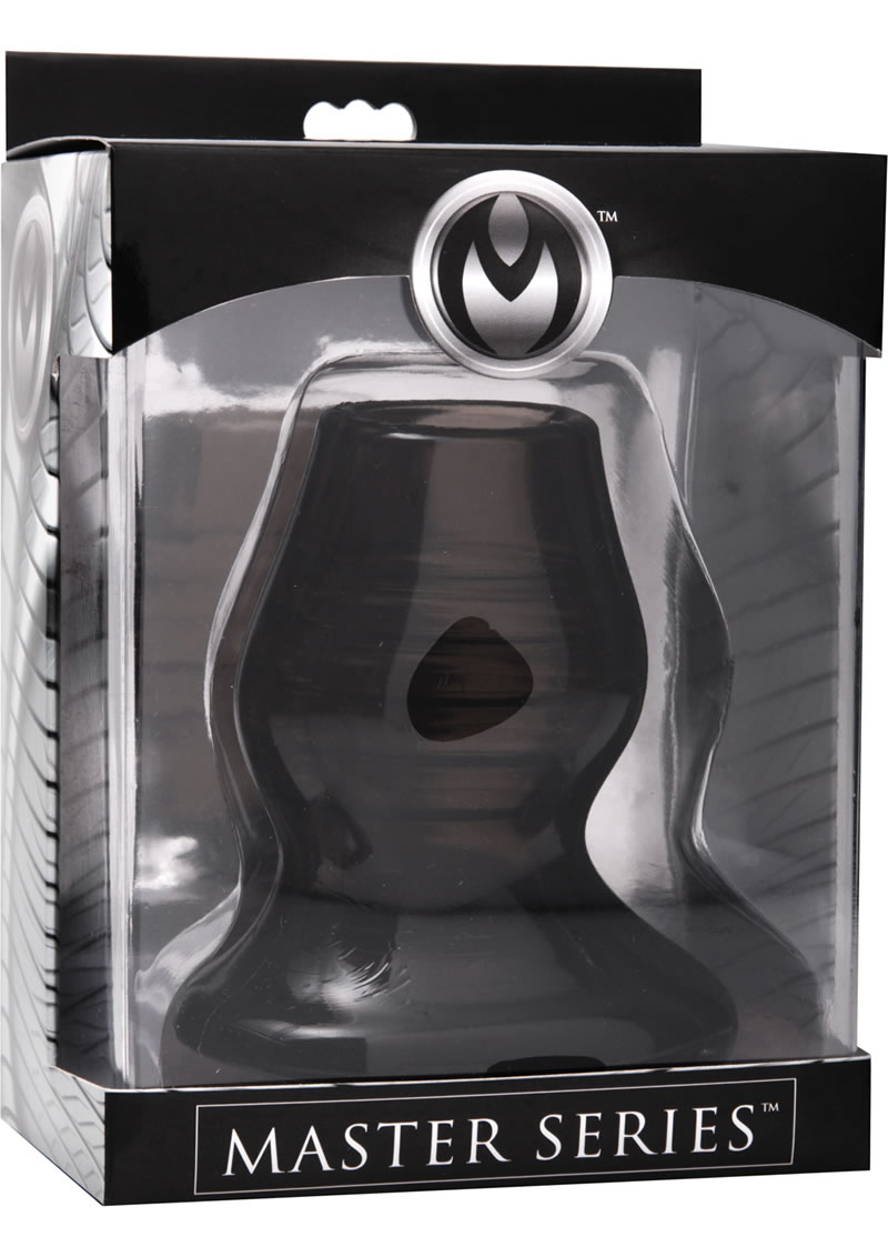 Master Series Excavate Tunnel Anal Plug Black  4.25 Inches