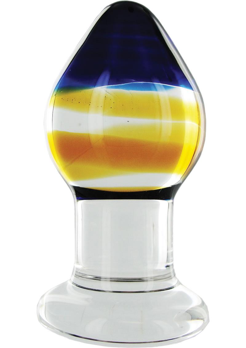 Prisms Pranava Glass Derrière Plug Multi Color