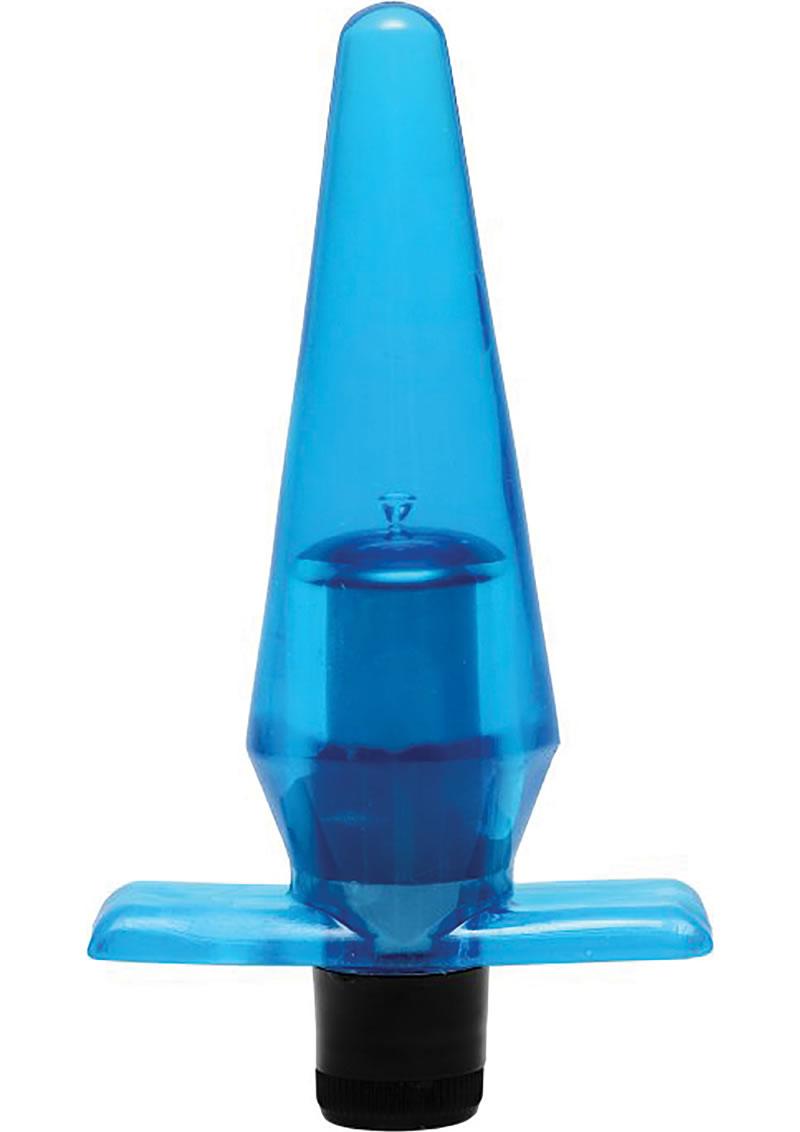 Trinity Vibes Mini Butt Plug Waterproof Vibe Blue