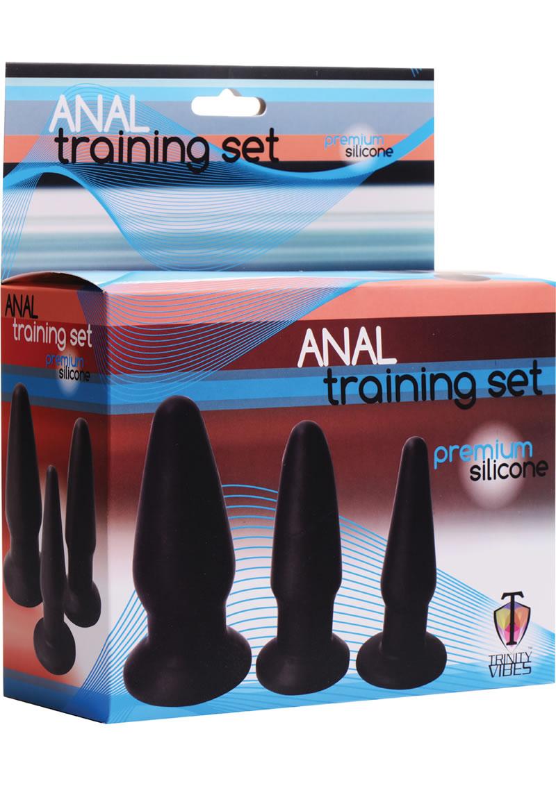 Trinity Vibes Silicone Anal Training Kit 3 Peice Black